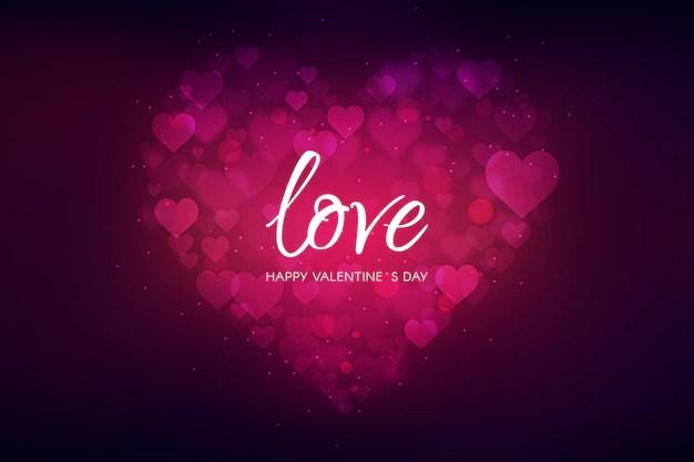 Blurred valentine's day background Free Vector