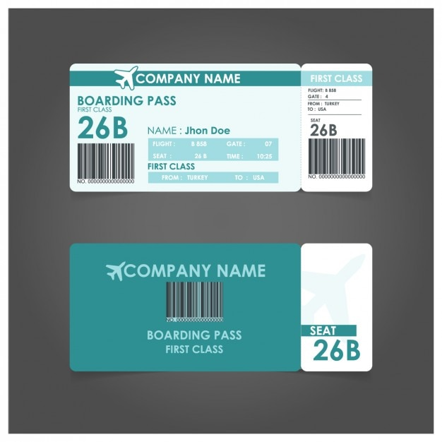 Boarding P Template Free Vector