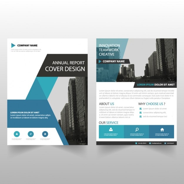 Business brochure template with geometric shapes Vector   Free Download Business brochure template with geometric shapes Free Vector