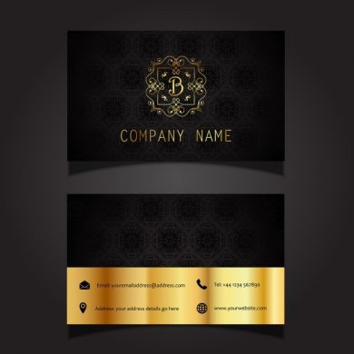 Business card layout with stylish design Vector   Free Download Business card layout with stylish design Free Vector