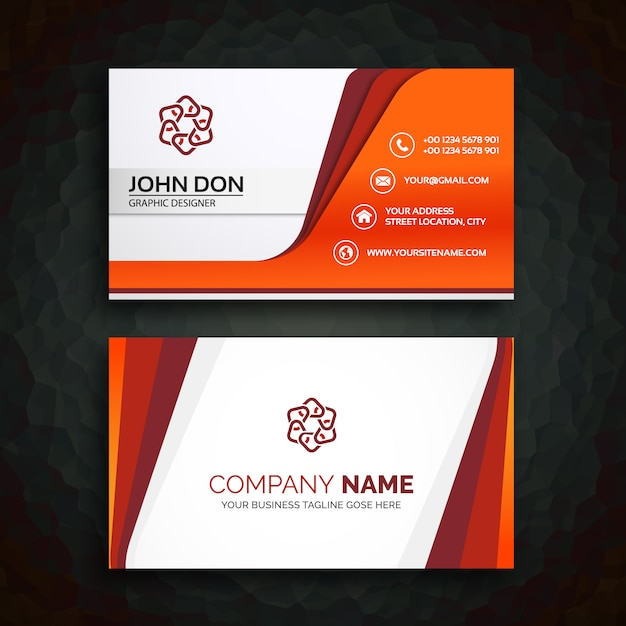 Business card template Vector   Free Download Business card template Free Vector