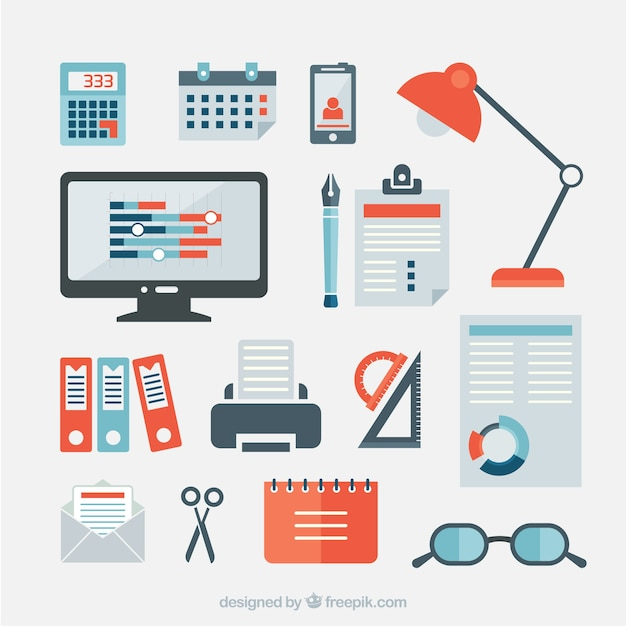 Business office items Vector | Free Download