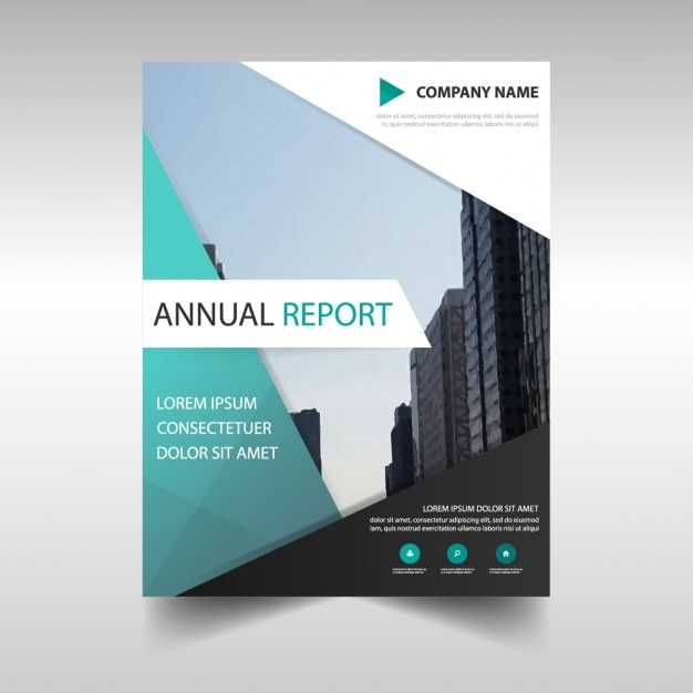 Business Report Template In Abstract Design Vector Free