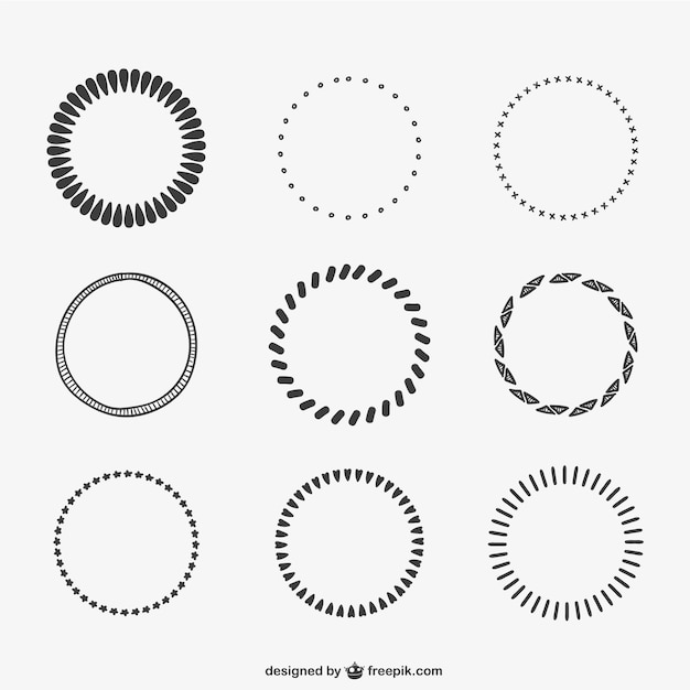 Calligraphic Circles Vector Free Download