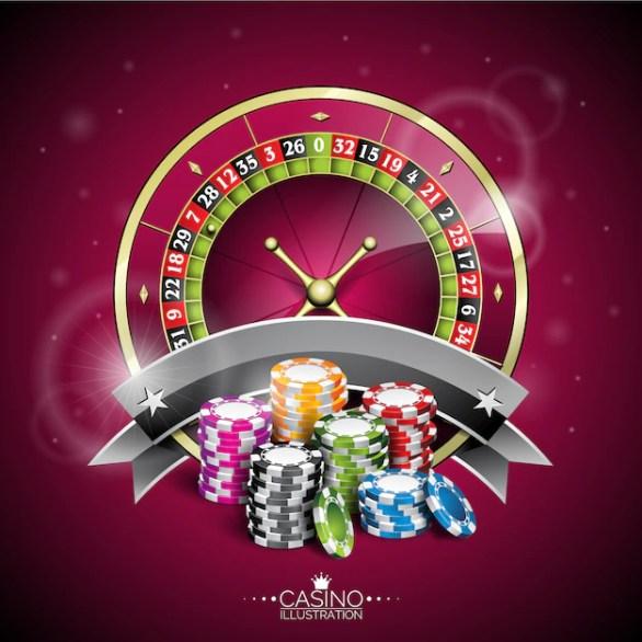 Free Vector | Casino roulette background design