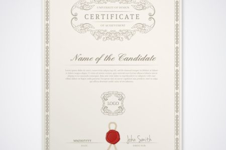 Certificate template Vector   Free Download Certificate template Free Vector