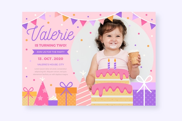 birthday card invitation template