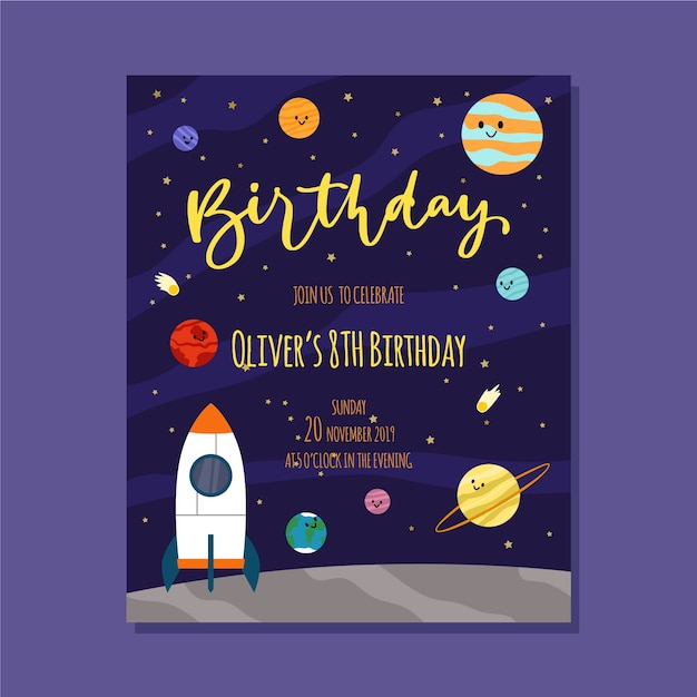 birthday invitation template with space