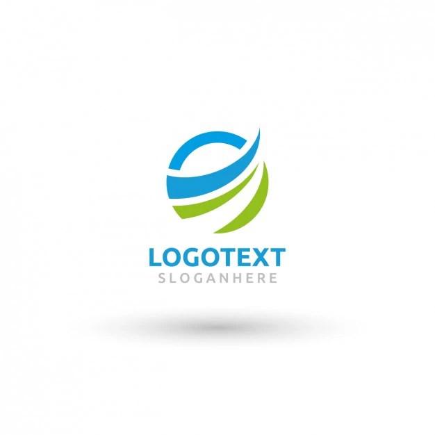 Circular Wave Logo Template Vector Free Download