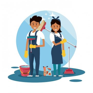 Cleaners with cleaning products