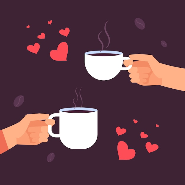 Download Coffee lovers illustration   Premium Vector
