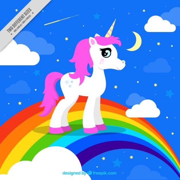 colorful background of unicorn vector free download