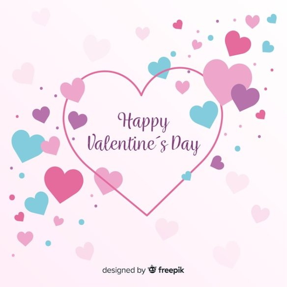 Pretty Colorful Hearts Free Vector Graphic