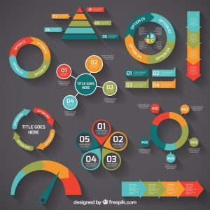 Colorful infographic diagrams Vector | Free Download