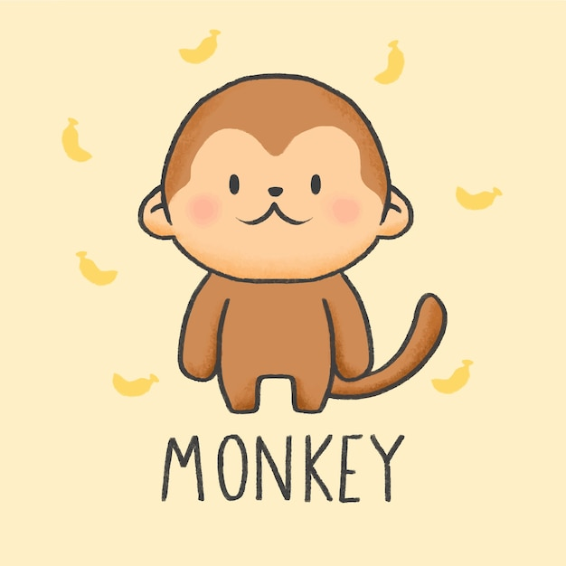 Gambar Monyet Dan Anaknya Animasi Contoh Gambar Mewarnai Gambar Monyet Kartun Kataucap