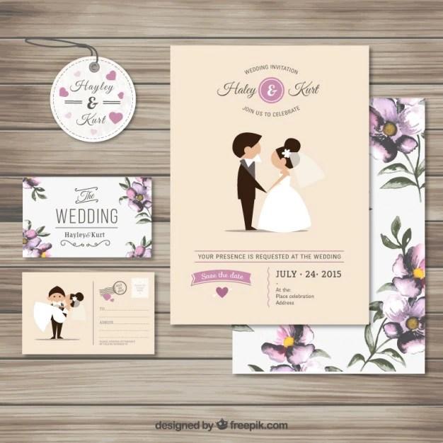 Cute Light Strings Fl Rustic Wedding Invite