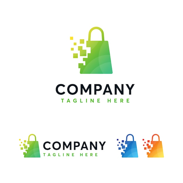 Digital Online Shop Logo Template Vector Premium Download