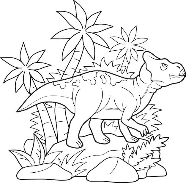 Premium Vector Dinosaur Coloring Page