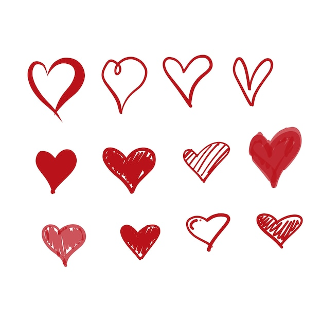 Download Free Vector | Doodle love icons