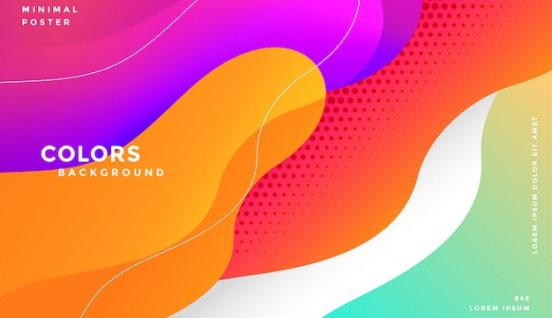 Free Vector | Dynamic modern colorful fluid style background