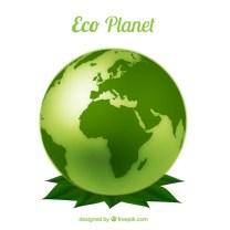 Eco planet Free Vector