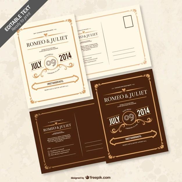 free vector editable wedding invitation