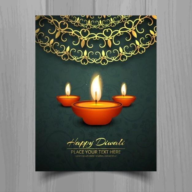 Flyer For Diwali Vector Free Download