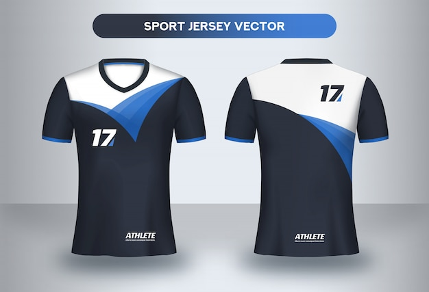 Football Jersey Design Template Corporate Design Soccer Club Uniform T Shirt Front And Back