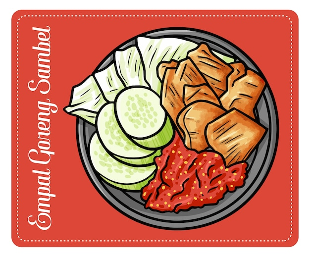 Premium Vector Funny And Yummy Empal Goreng Sambel A Traditional Beef Cuisine From Center Of Java Indonesia