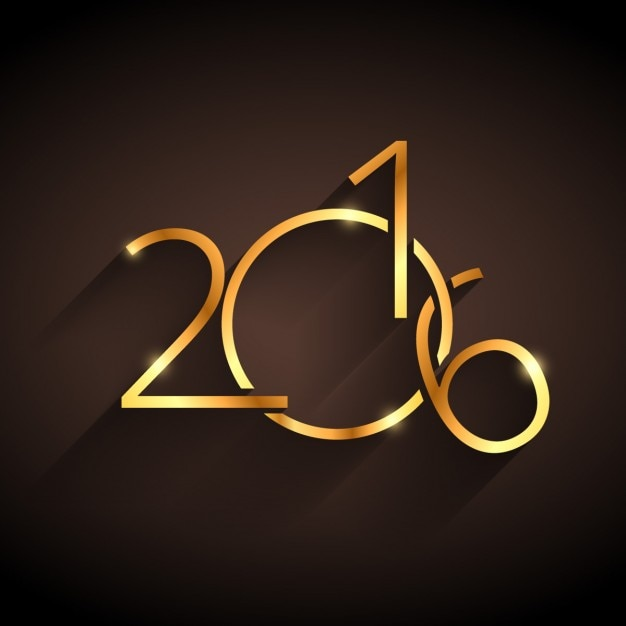 Golden happy new year 2016 Vector   Free Download golden happy new year 2016 Free Vector