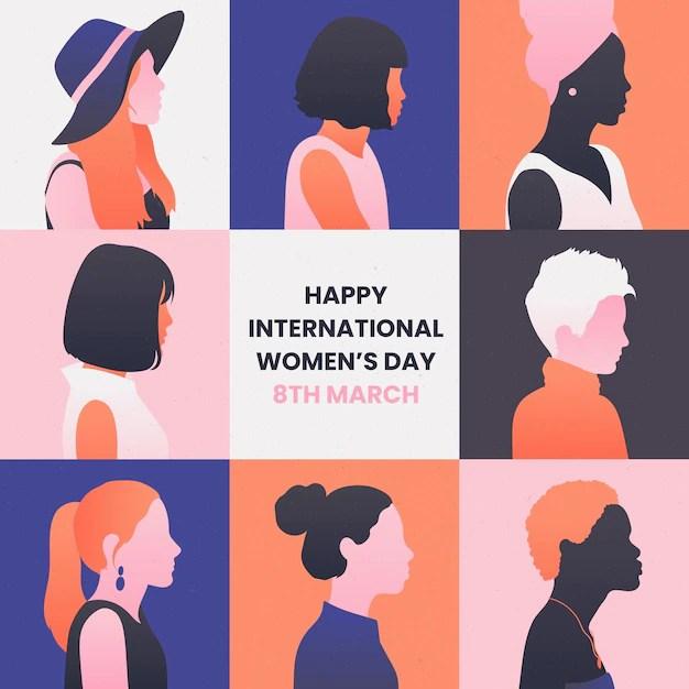 Gradient international women's day illustration Free Vector