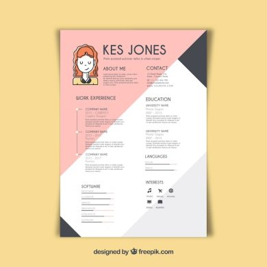 Graphic designer resume template Vector   Free Download Graphic designer resume template Free Vector