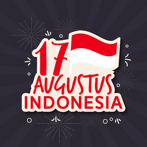 Premium Vector Greeting Of Indonesia Independence Day Flat Style
