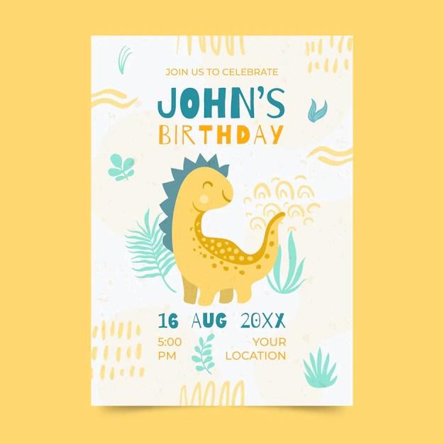 dinosaur birthday invitation images