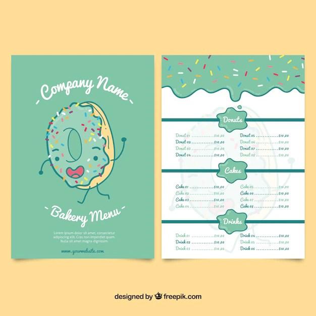 Bakery Menu Template. gourmet bakery menu template bakery menu ...