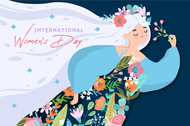 Hand drawn women's day Premium Vector