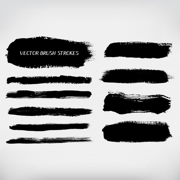 And Strokes Brush Black Graphics Paint White