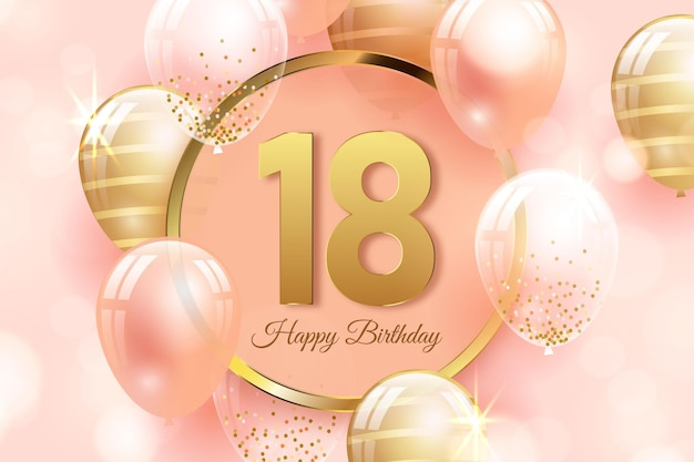 18th birthday images free vectors