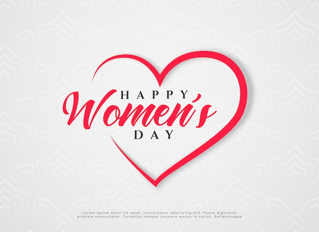 Happy women's day hearts greeting Free Vector