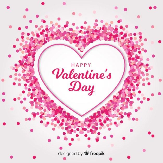 Pink Confetti Heart Free Vector