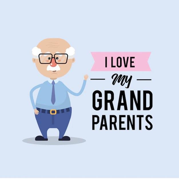 Download I love my grandparents card design | Premium Vector