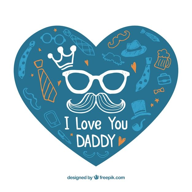 Download I love you daddy | Free Vector