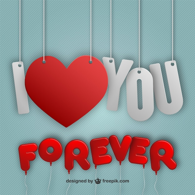 I love you forever Vector | Free Download