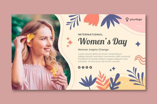 International women day banner Premium Vector