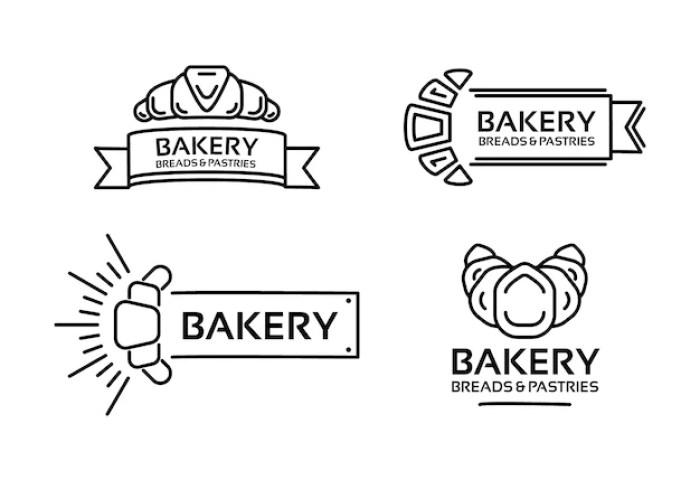 Line Art Bakery Logo Template Vector Free Download