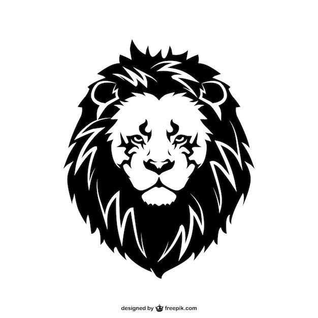 Premium Vector Lion Face Tattoo