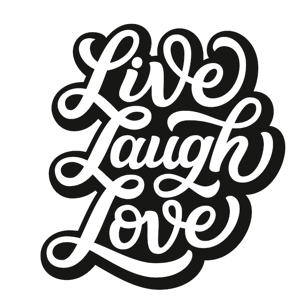 Download Premium Vector | Live laugh love with typography