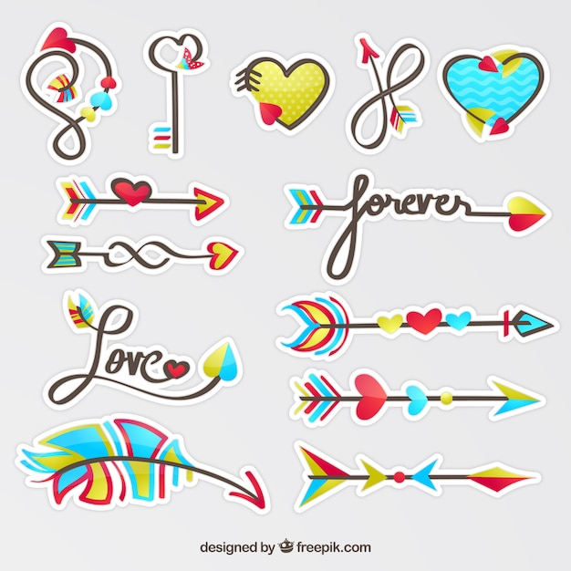 Download Love arrow collection   Free Vector