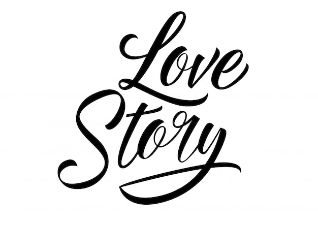 Download Love story lettering Vector | Free Download