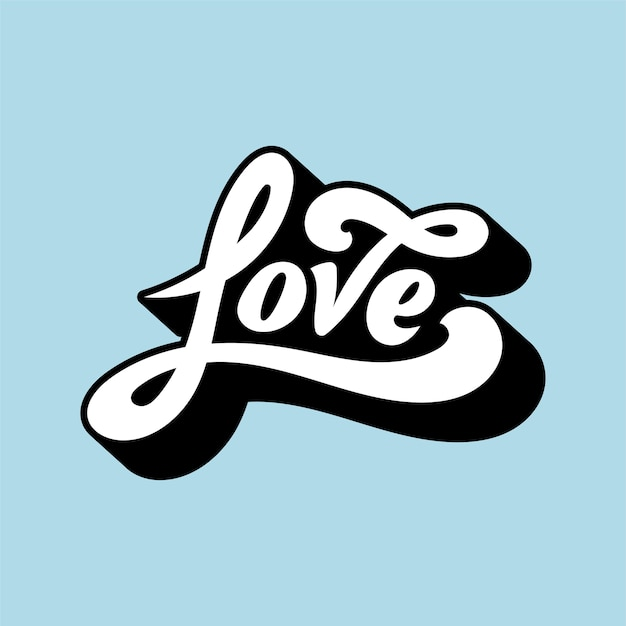 Download Love word typography style illustration Vector | Free Download